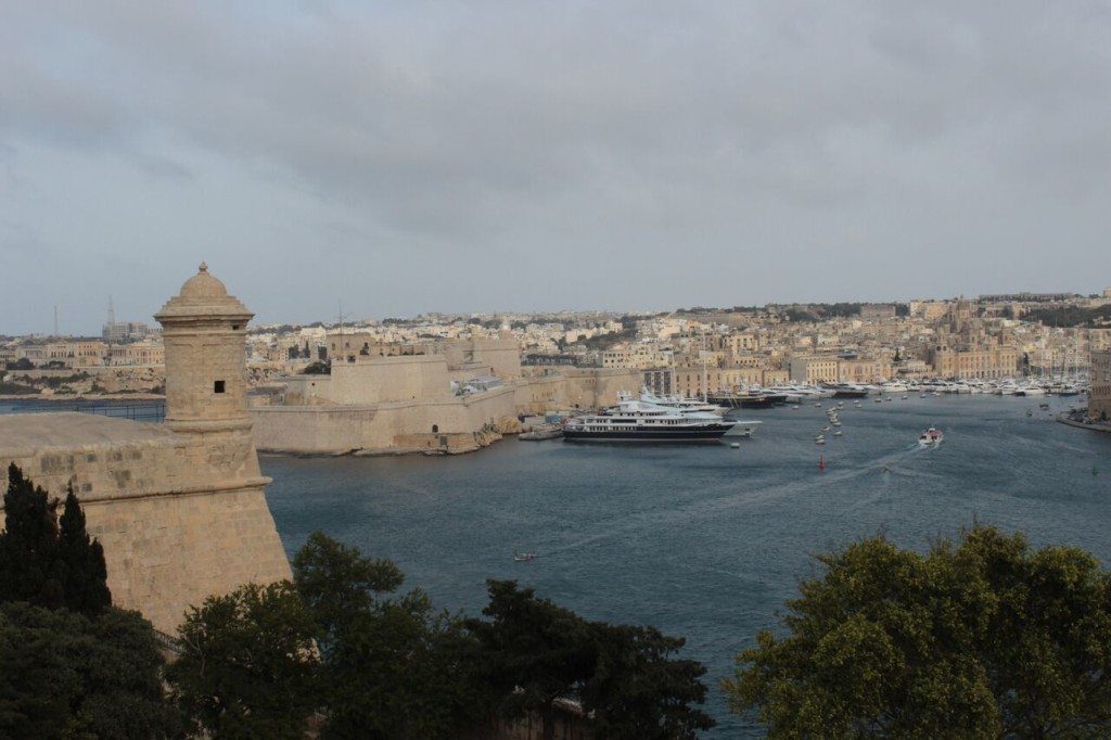 Stunning view of Valletta Harbour
